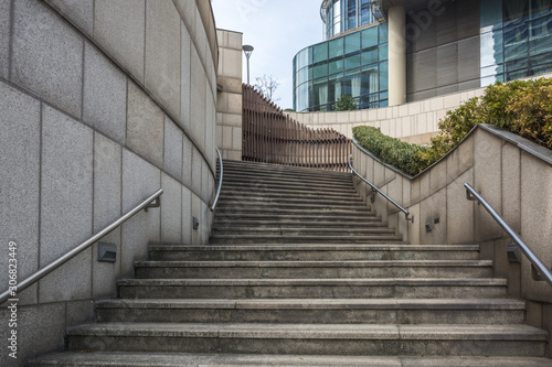 Gray concrete stairs outdoors in suzhou