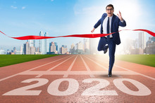Businessman In New Year 2020 C...