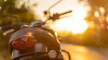 Motorcycle In A Sunny Motorbik...