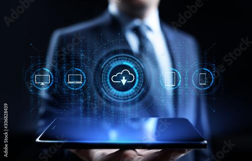 Cuadros en Lienzo  Cloud technology data storage processing computing Internet concept