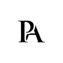Initial Pa Alphabet Logo Design Template Vector