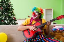 Funny Clown In Christmas Celeb...