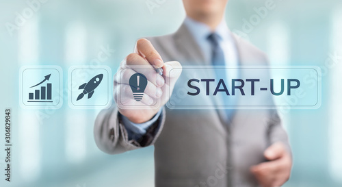 Fotografía  Business start up Venture investment business and development concept