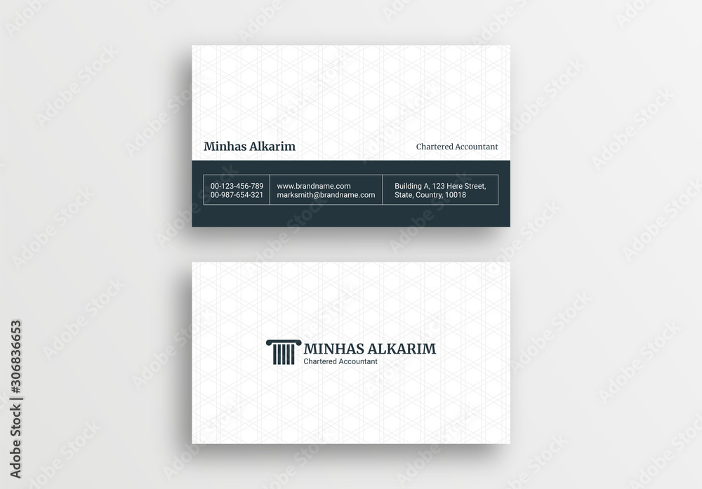 Fototapeta Law Firm Style Business Card Design Template, Lawyer Visiting Card