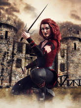 Woman With A Short Sword In Fr...