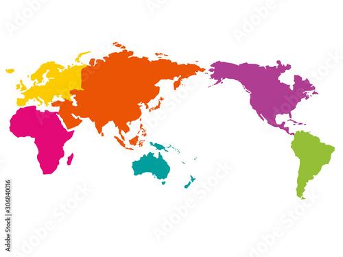 世界地図 エリア別区分