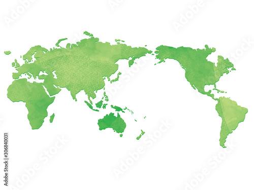 水彩風の世界地図