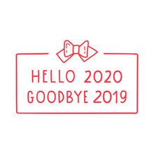 Hand Drawn Badge - Hello 2020 ...