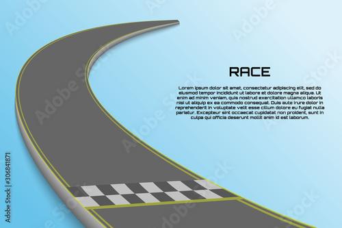 Canvastavla Winnding Curve Road Isolated