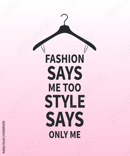 Vector_Female stylized dress made from quote about fashion