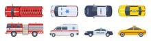 Vehicle Set. Transport Top Vie...