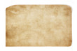 canvas print picture Old paper with dirty spot isolated on white background, paper texture