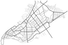 Samara City Map - Town Streets On The Plan. Map Of The  Scheme Of Road. Urban Environment, Architectural Background. Vector