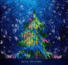 New Year And Christmas Card, T...