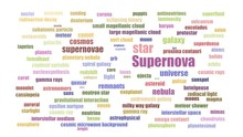 Supernova Wordcloud Animated On White Background