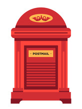 Letterbox Or Mailbox Isolated ...