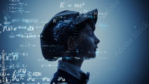 Obraz 科学イメージ 方程式 定理 数学 - fototapety do salonu
