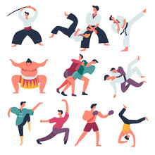 Fighting Sportsmen, Oriental Fight Arts, Isolated Characters