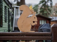 Wooden Cutout Squirrel