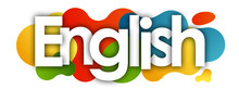 English In Color Bubble Backgr...