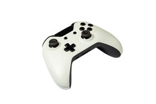 Gamepad From A Game Console On A White Isolated Background. Game Concept, Online Games, ESports