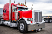 Classic Big Rig Red Semi Truck...