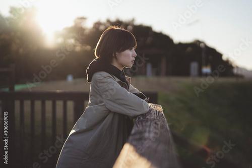 Fotografiet 展望台の女性