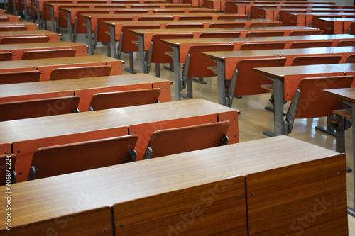 Fotografie, Obraz 無人の大学の講義室のイメージ