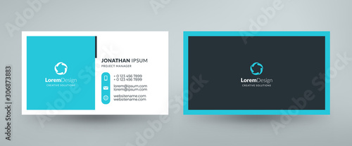 Obraz Creative and clean corporate business card template. Vector illustration. Stationery design - fototapety do salonu