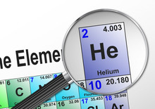 Chemical Element Helium Magnif...