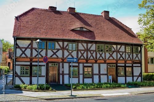 kantorhaus von 1583 in bernau bei berlin, deutschland Fototapet