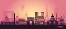 Stylized Landscape Of Paris Wi...