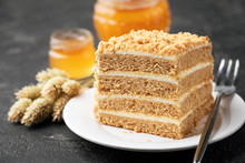 Layer Cake Medovik, Honey Cake...
