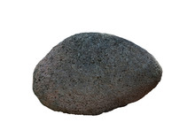 Basalt Rock Isolated On White Background Included Clipping Path.
