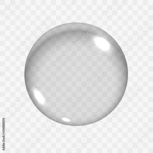 Cuadros en Lienzo Translucent Empty Glass Sphere or Circle