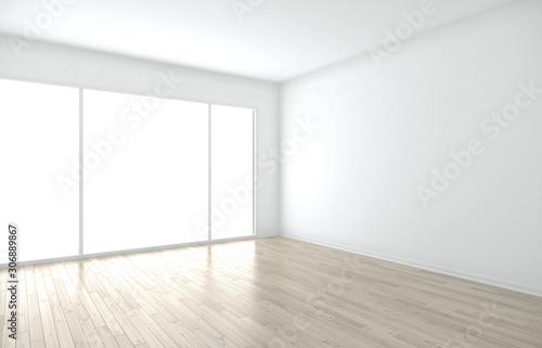 canvas print motiv - peshkova : Clean room with big window