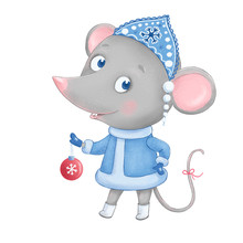 Cute And Funny Mouse - The Snow Maiden