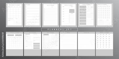 Carta da parati  Planner sheet vector