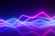 canvas print picture - Bright colorful glowing neon lines. Abstract musical equalizer background, graph, diagram, drawing, curve, chart. Modern ultraviolet blue purple color cpectrum.3d illustration