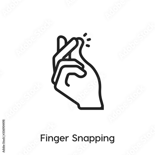 Fototapeta finger snapping icon vector. Gesture icon vector symbol illustration. Modern simple vector icon for your design. Click icon vector.	 obraz