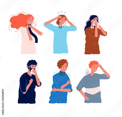 Fotografia Flu symptoms people