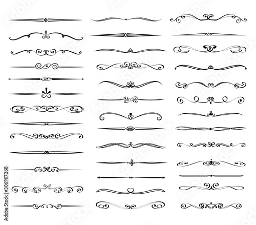 Obraz Set of text delimiters for your projects. Vector illustration - fototapety do salonu