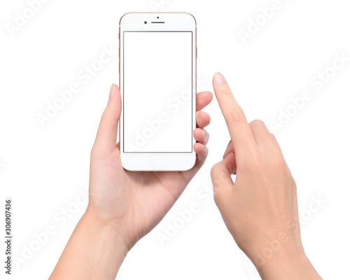 Fotografia, Obraz  スマートフォンを持つ手。画面合成用素材