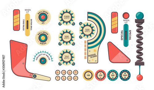 Pinball elements Wallpaper Mural
