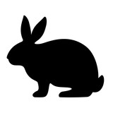 Fototapeta Fototapety na ścianę do pokoju dziecięcego - Rabbit vector silhouette icon
