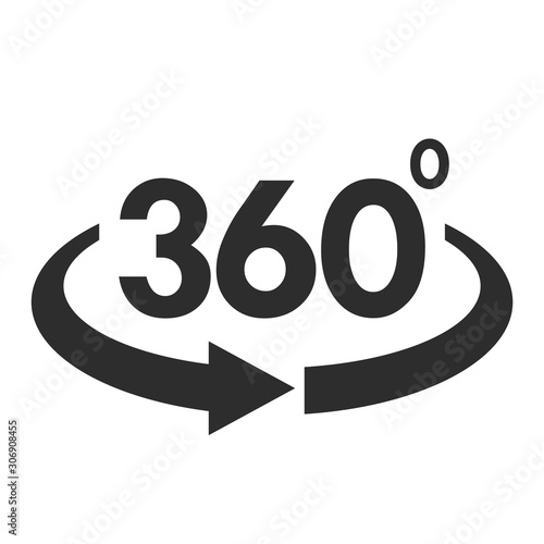 Angle 360 degree vector symbol Wallpaper Mural