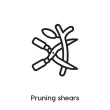 Pruning Shears Icon Vector Sign Symbol