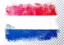 Vector Illustration Grunge And Distressed Flag Of Netherlands