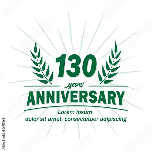 Cuadros en Lienzo 130 years logo design
