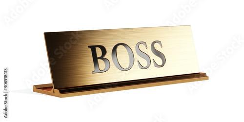 Vászonkép Nameplate with Boss text